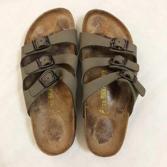 Birkenstock Shoes Florida Three Strap Sandals Gray Poshmark